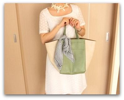 スカーフつき トートバッグ (3)