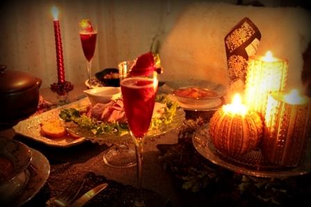 クリスマスのディナー & いちごカクテル (6)