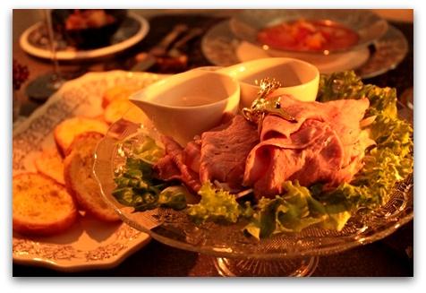 クリスマスのディナー & いちごカクテル (8)