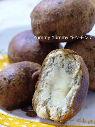 バジル香る☆チーズinドーナツ♪