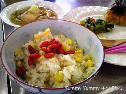 和食料理教室 トウモロコシごはん♪