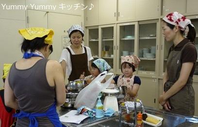 亥の子谷2012夏休み親子クッキング♪様子2