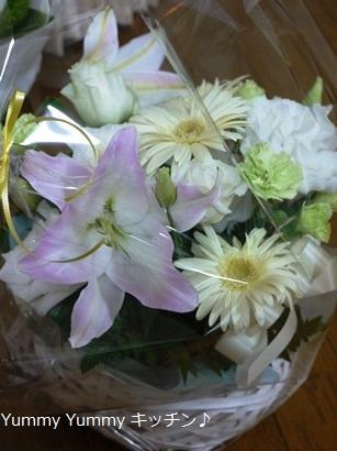 知子ちゃんからのお花♪