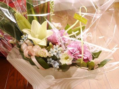 藤井先生からのお花♪