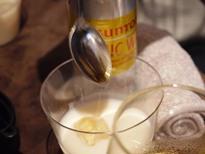 フルーツブランデー体験イベント メロンフルブラミルク割 メープルシロップ