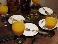 フルーツブランデー体験イベント お料理1