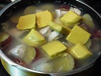 圧力鍋 コーンクリームシチュー手順2
