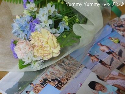月命日(2回目)お供えのお花と写真