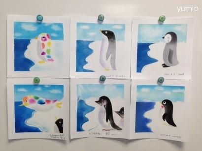 パステル画ペンギン