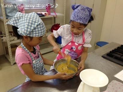 20130823夏休みお菓子クッキング様子2ブログ用