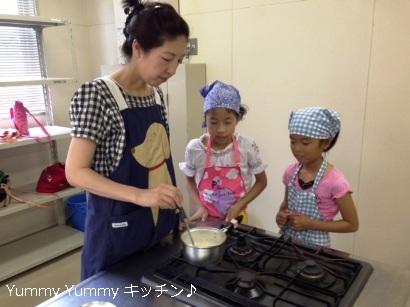 20130823夏休みお菓子クッキング様子1ブログ用