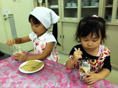 20130823夏休みお菓子クッキング様子4ブログ用