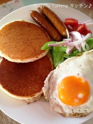 パンケーキ 朝食風縦ブログ用