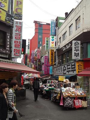 釜山の商店街