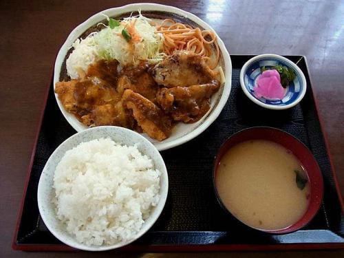 チキンカツチーズ焼き定食