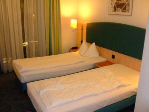 ウィーンのホテル・ベッド