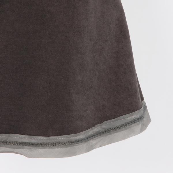 イリゼのストレッチベロアのミニフレアースカート