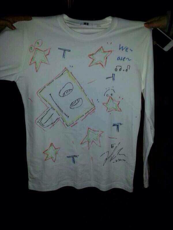 ユノの描いたTシャツ