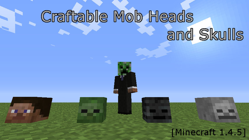 Craftable Mob Heads and Skulls-1