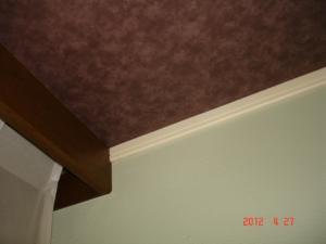 カラーワークスの塗料で仕上げた壁面