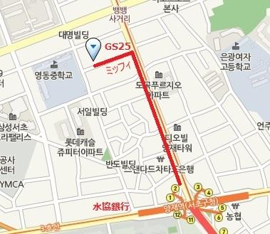 リリコス江南支社ヤンジェオフィスmap