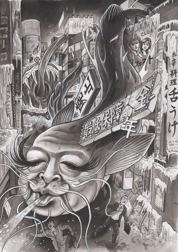 野田佳彦の風刺漫画