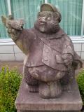 JR宍道駅 たぬきの郵便配達員