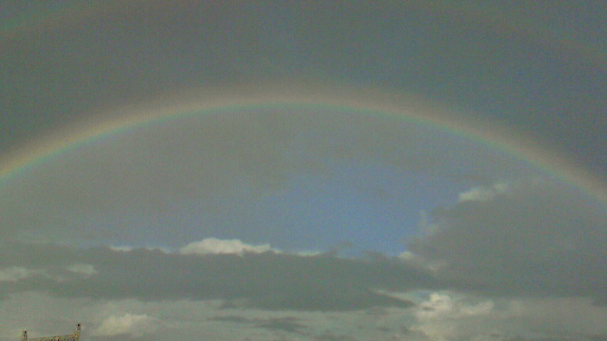 虹を発見☆