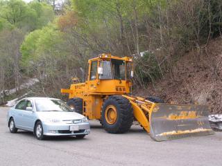 除雪車と愛車