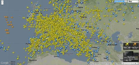 ヨーロッパ上空