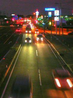 夕暮れの国道 HDR2