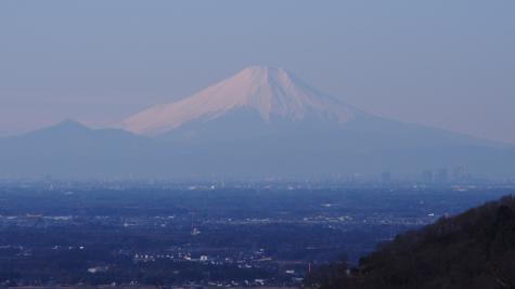 表筑波からの富士山
