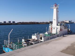 鹿島港の船舶