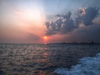 播磨灘の夕日