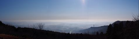 愛宕山の眺望 朝靄