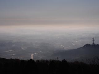愛宕山 朝靄