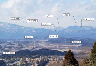 羽黒山からの霧降高原(説明)