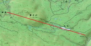 地図 新湯~富士山~大沼