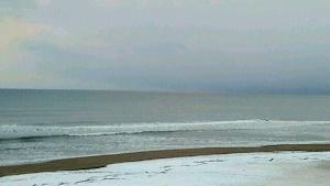 荒涼とした海景色