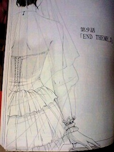 ウエディングドレスの後ろ姿