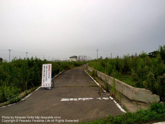 岩沼市の被災地