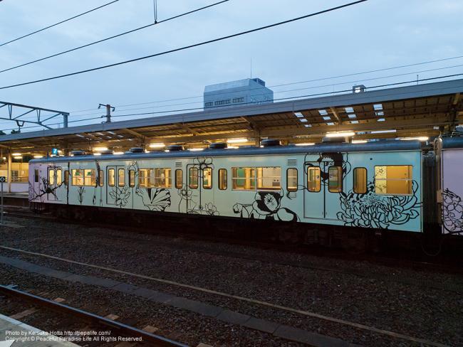 和歌山線ラッピング車「万葉の四季」