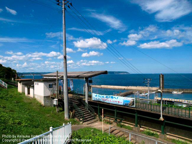 あまちゃんロケ地、夏ばっぱ家最寄り駅の袖ケ浜駅こと堀内駅