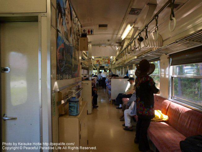 あまちゃんのロケで使われた列車の車内