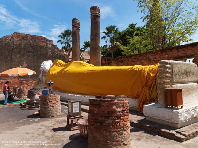 ワット・ヤイ・チャイ・モンコン(Wat Yai Chaya Mongkol)の涅槃仏
