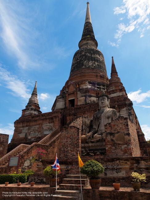 ワット・ヤイ・チャイ・モンコン(Wat Yai Chaya Mongkol)の仏塔