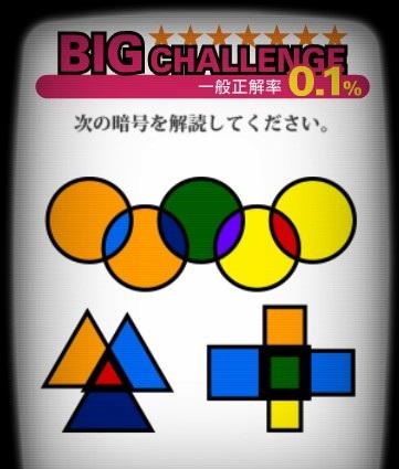 エクセレントクイズのBIGチャレンジ問7