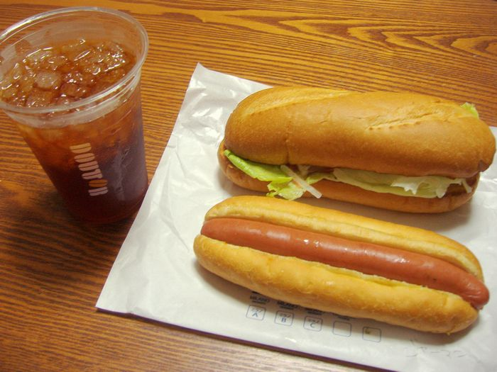 ドトールコーヒーのサンドイッチ