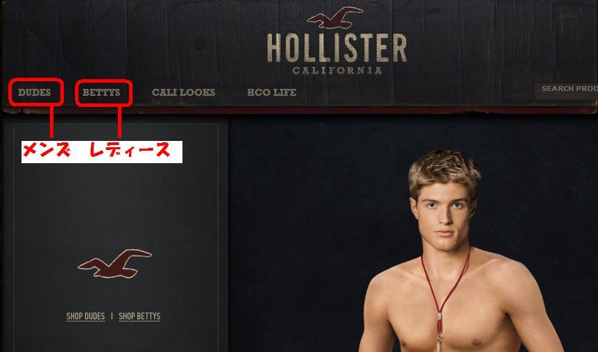 ホリスターの公式サイト