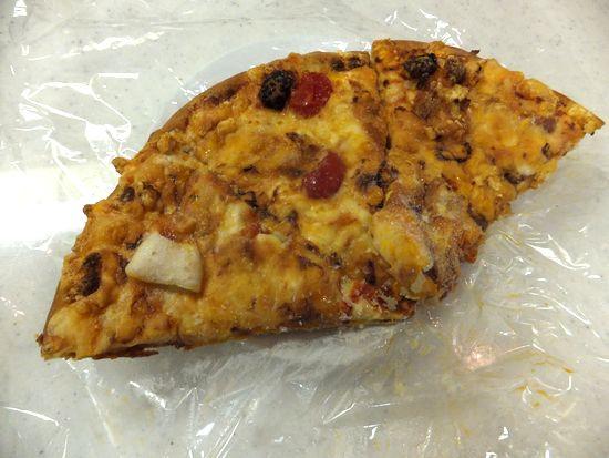 冷凍したピザ